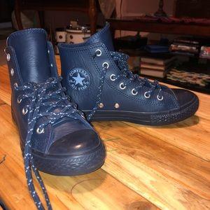 Converse All Star Hi Boys Navy/Blue Leather